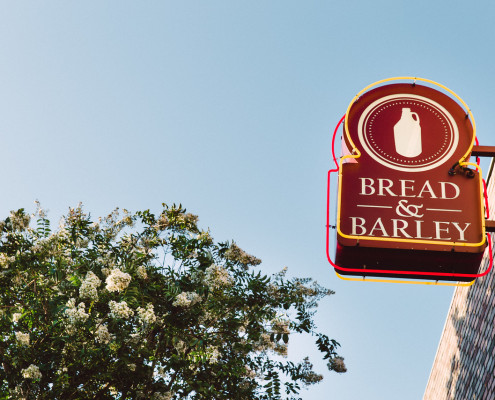Bread & Barley sign outside